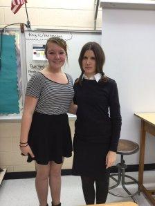 Pugsley (Saianna Henry) and Wednesday (Mrs. McGee)